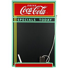 Coca-cola Wood Chalkboard by COCA COLA