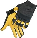 Strech Nylon & Tan Deerskin Mechanics Glove-LeatherBull(Free U.S. Shipping)