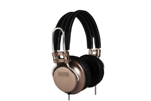 California Headphone Company On Ear Metal And Leather Headphones - Laredo