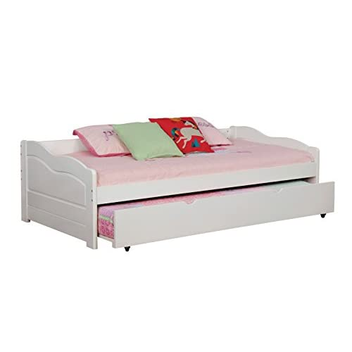 HOMES: Inside + Out IDF-1737WH Hermesa Daybed Day Beds, Twin, White
