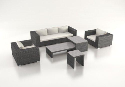 Polyrattan Lounge Matelia grau günstig kaufen