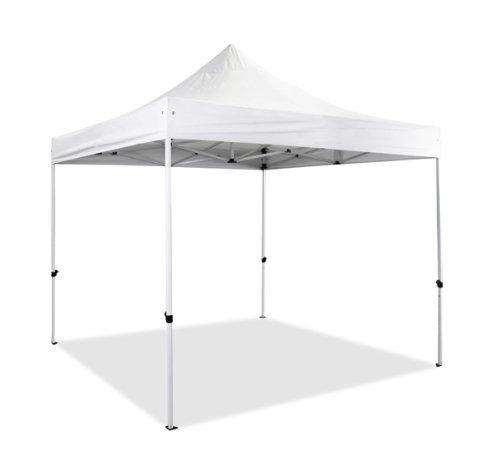 3m x 3m Premium Falt-Pavillon, weiß