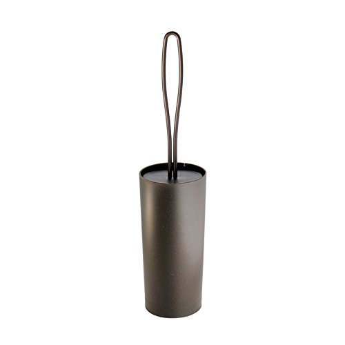 MDesign Loop Toilet Bowl Brush and Holder for Bathroom Storage - Bronze