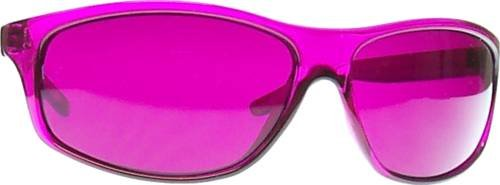 Magenta (Rose) Color Therapy Glasses, Pro Style [Available in Other Colors]