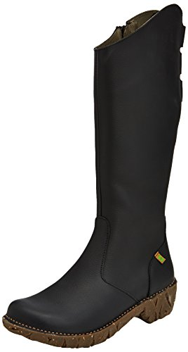 El Naturalista NE20 GRAIN BLACK / YGGDRASIL - Stivali a Gamba Larga Donna, Nero (BLACK N01), 41 EU