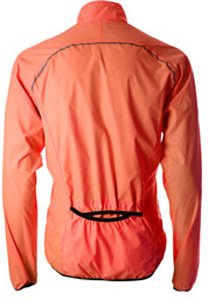 Mens More Mile Running Wind Water Resistant Jacket Fluorescent Orange MM1670