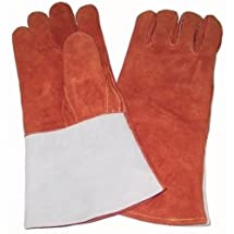 Welders Gloves with Thumb Strap, Russet - Brown Tools Equipment Hand Tools