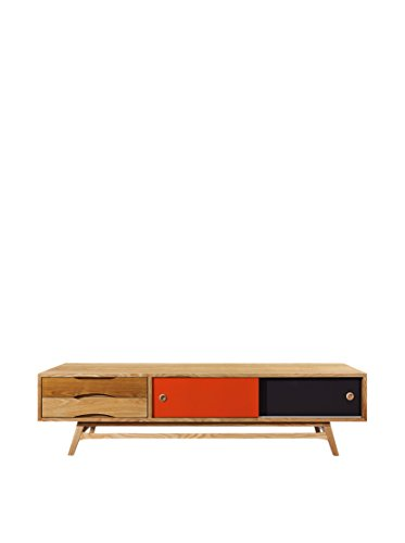 Kardiel Color Pop Mid-Century Modern Media Cabinet, Oak