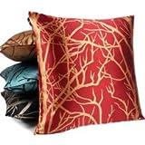 ElleWeiDeco Modern Firebrick Red Throw Pillow Cover