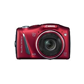 Canon PowerShot SX150 IS 14.1 MP Digital Camera (Red)