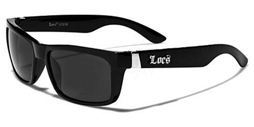 Occhiali da Sole Locs - Moda - Fashion - Lifestyle - Spiaggia - Stile - Casuale - Discoteca - Sera / Mod. Wayfarer Nero