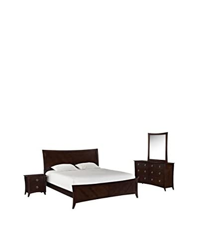 Modway Elizabeth 4-Piece King Bedroom Set, Cappuccino