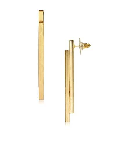 Saachi Gold-Tone Twin Bar Earrings