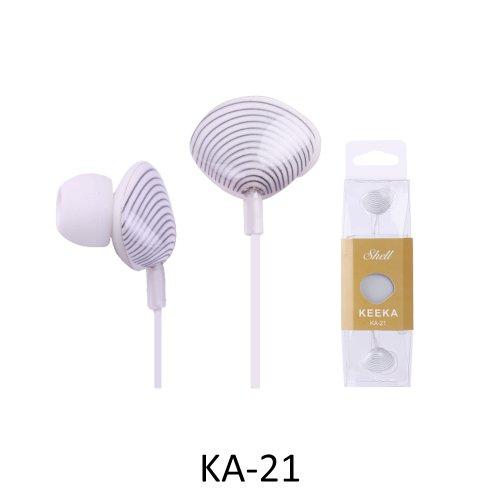 """Keeka """"Sea Shell"""" Lovely Cartoon Color Stereo Headphones - White (Ka-21-5)"""