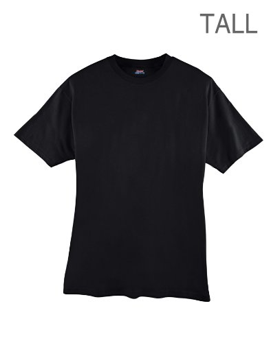 hanes-beefy-t-mens-tall-t-shirt-best-seller-518t-3xlt-black