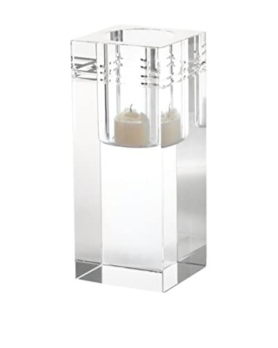 Artistic Large Square Crystal Collar Votive, Clear