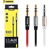 Cable World REMAX 3.5mm AUX Audio Cable For Headphone Speaker Smartphone Car Stereo - COLOR May Be Vary ( 1 Year...