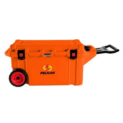 80 Qt. Wheeled Rotomolded Cooler Color: Burnt Orange (80 Qt Cooler Pelican compare prices)