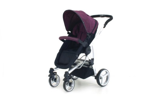 Petite Star Kurvi Match Pushchair Including Footmuff, Change Bag and Liner (Purple)