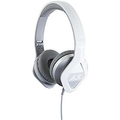 JVC HA-SR100X XX Elation Series On-ear Headphones with Remote & Mic (Silver) with Ear Buds + Portable Power Pack + Stylus Pen + Cleaning Kit