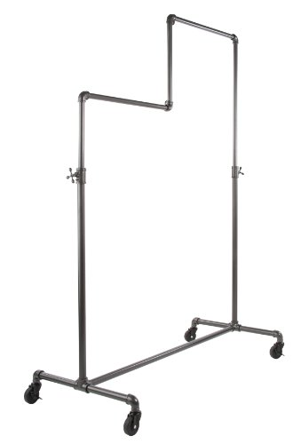 Econoco Adjustable Pipeline | Double Tier Ballet | Vintage Rolling Rack 0