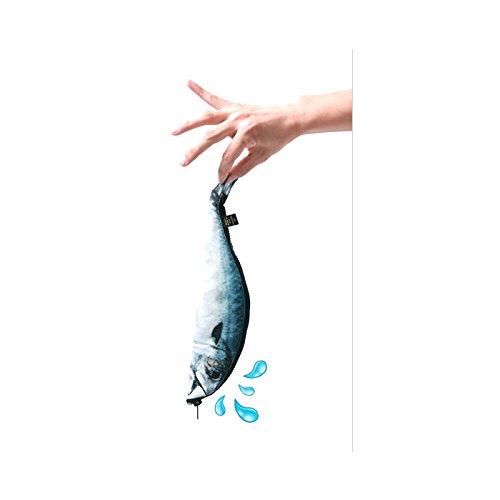 Mackerel fish zipper pouch weird pen pencil case office for Realistic fish pencil case