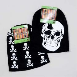 Black and White Kids Child Skull Beanie Hat Cap - 1
