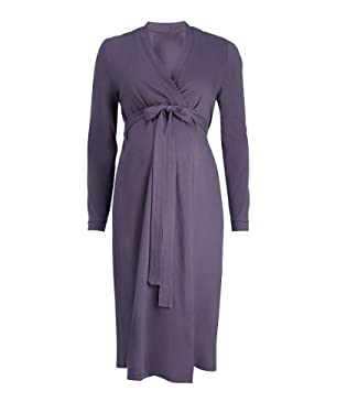 Maternity Robe - charcoal