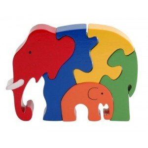 Cheap Fun Elephant Family 5 Piece Wooden Puzzle (B003HM19QC)
