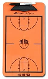 Anaconda Sports® MG-LES-COL-ORAN The Rock® Basketball Court Diagram Clipboard with New College 3 Point Line (Size: 9in. x 15 1/2in.)