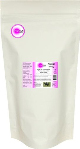 Grass Fed Hormone Free Whey Protein Isolate Powder 3kg / 3000g Unflavoured - PINK SUN Natural Whey