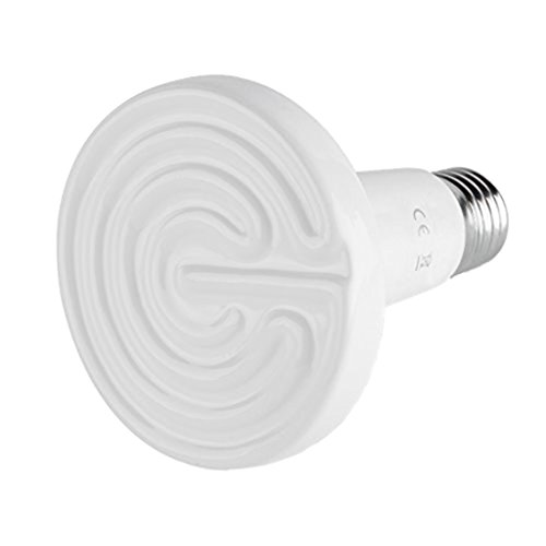 Ceramic Heat Lamp - SODIAL(R)110V Ceramic Infrared Emitter Heat Lamp Grow Plant Lamp Zoo Turtle Pet Reptile Heater 150W (White) (Heat Wave Heater Infrared compare prices)