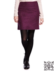 Best of British Pure New Wool Herringbone A-Line Mini Skirt