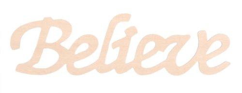 Darice 9110-36 Wood Script Word, Believe