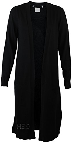 ex-ms-marks-and-spencers-black-or-navy-blue-longline-cotton-blend-cardigan-small-black