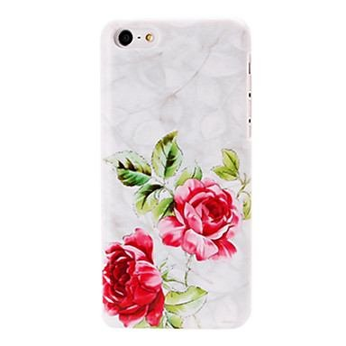 Small Fresh Red Flowers Pattern White Plastic Hard Case for iphone 5C