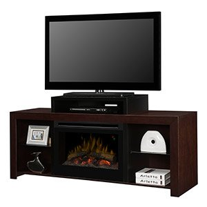 Dimplex Beasley Electric Fireplace Media Console in Walnut - GDS25L-1441KN