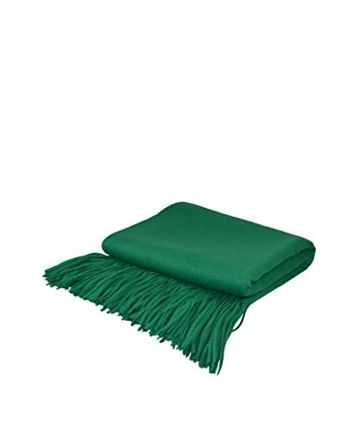 PÜR Cashmere Signature Blend Throw, Emerald