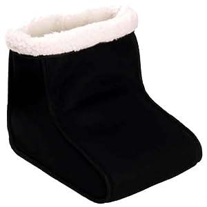 Black Electric Heated Comfort Fleece Comfy Foot Warmer And