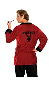Secret Wishes Men's Playboy Hugh Hefner Smoking Jacket Costume, Burgundy, Standard