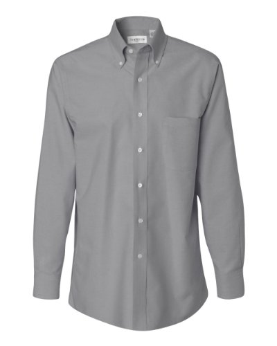 Van-Heusen-Long-Sleeve-Oxford-Shirt-13V0040-Dark-Grey