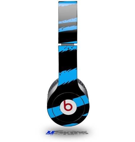 Zebra Blue Decal Style Skin (Fits Beats Solo Hd Headphones - Headphones Not Included)