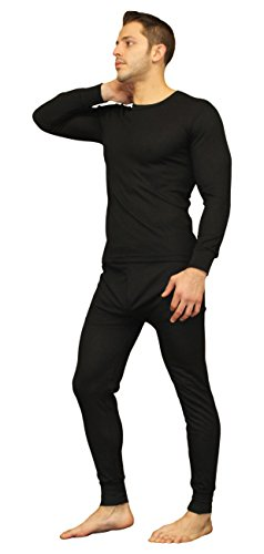 Men's Ultra Soft Thermal Underwear Long Johns Set with Fleece Lined (X-Large, Black) (Thermal Pajama Men compare prices)