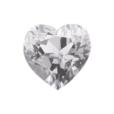 2.30 Cts of 8x8 mm AA Heart White Topaz ( 1 pc