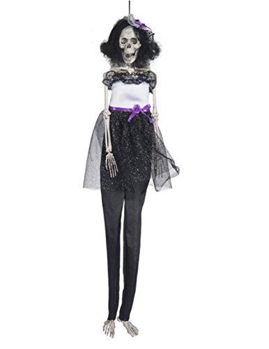 [Long Legged Skeletons Wearing Costumes Halloween Decoration Skeleton Bride Black] (Dark Skeleton Bride Child Costumes)