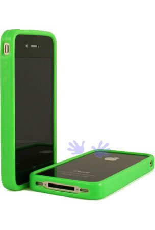 MIX SERIES CLEAR PLASTIC WITH TPU CASE GREEN for Iphone 4 / Iphone 4G