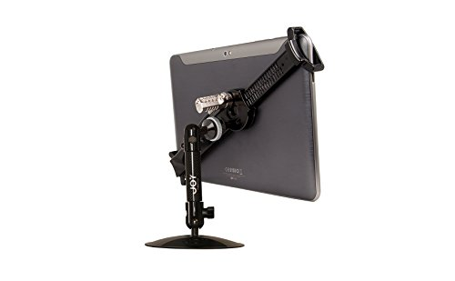 The Joy Factory Lock Down Universal Desk/Countertop Carbon Fiber Stand with Combination Lock for 7 to 101 Inches Tablets (MNU111CL)