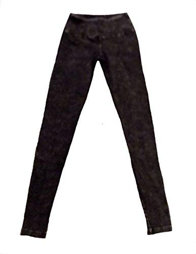 Hard Tail Flat Waist Mineral Wash Ankle Legging - Black (S, Black)