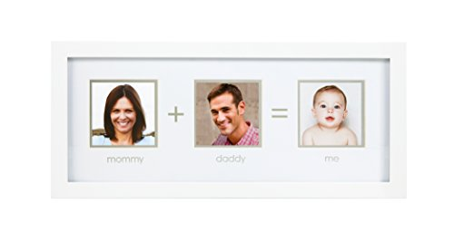 Pearhead Mommy + Daddy Me Frame, White