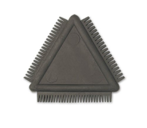 Peigne en caoutchouc-Finition similicuir-Triangle
